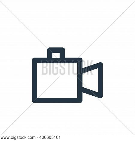 video camera icon isolated on white background from user interface collection. video camera icon thi