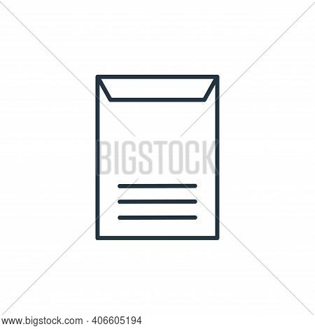 vertical envelope icon isolated on white background from stationery collection. vertical envelope ic