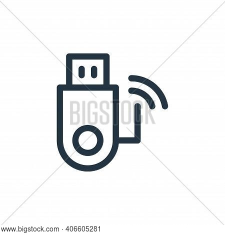 usb drive icon isolated on white background from electronics collection. usb drive icon thin line ou