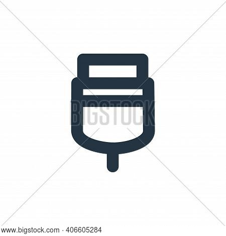 usb connector icon isolated on white background from user interface collection. usb connector icon t