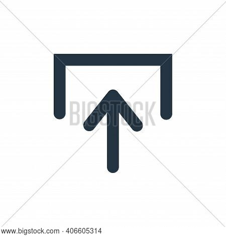 upload icon isolated on white background from user interface collection. upload icon thin line outli