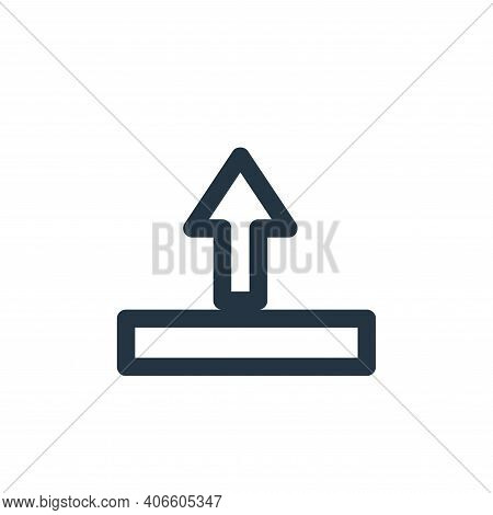 upload icon isolated on white background from marketing business collection. upload icon thin line o