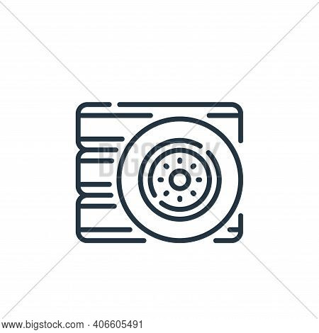tyre icon isolated on white background from auto racing collection. tyre icon thin line outline line