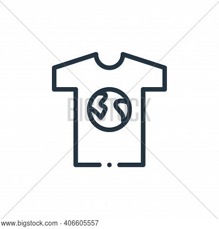 t shirt icon isolated on white background from world love collection. t shirt icon thin line outline