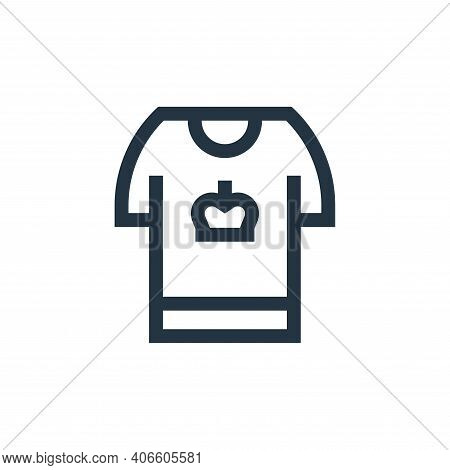 t shirt icon isolated on white background from holland collection. t shirt icon thin line outline li