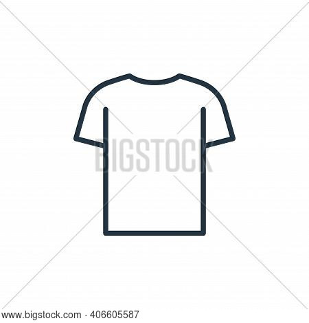 t shirt icon isolated on white background from wardrobe collection. t shirt icon thin line outline l