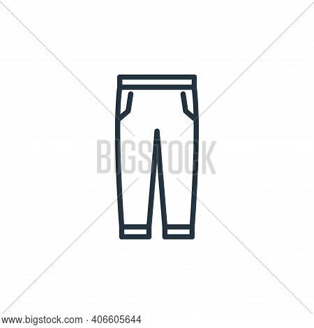 trousers icon isolated on white background from wardrobe collection. trousers icon thin line outline