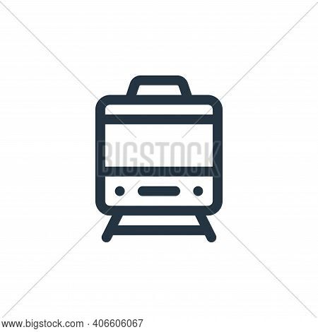 train icon isolated on white background from england collection. train icon thin line outline linear