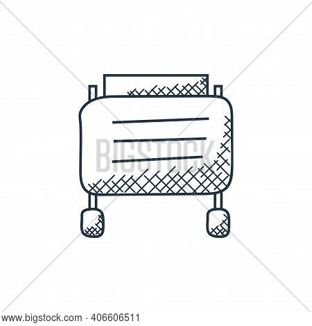 toaster icon isolated on white background from technology collection. toaster icon thin line outline
