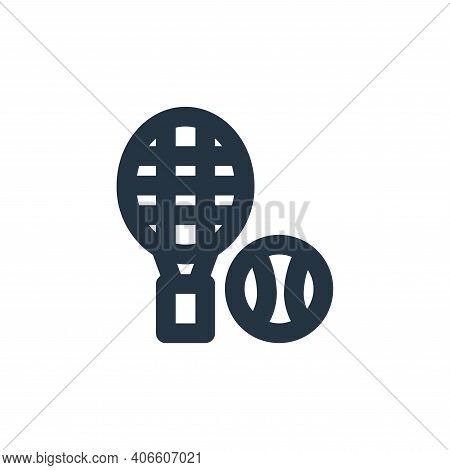 tennis icon isolated on white background from sport collection. tennis icon thin line outline linear