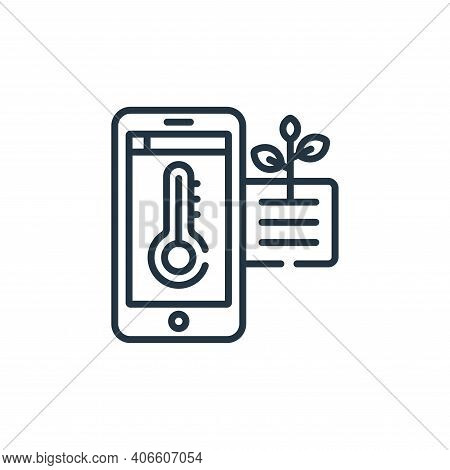 temperature icon isolated on white background from smart farm collection. temperature icon thin line