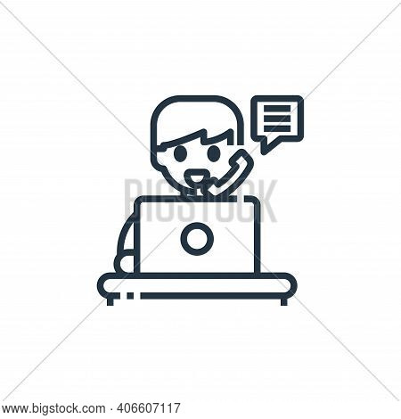 teleworking icon isolated on white background from working from home collection. teleworking icon th