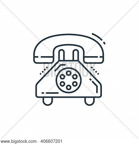 telephone icon isolated on white background from technology devices collection. telephone icon thin