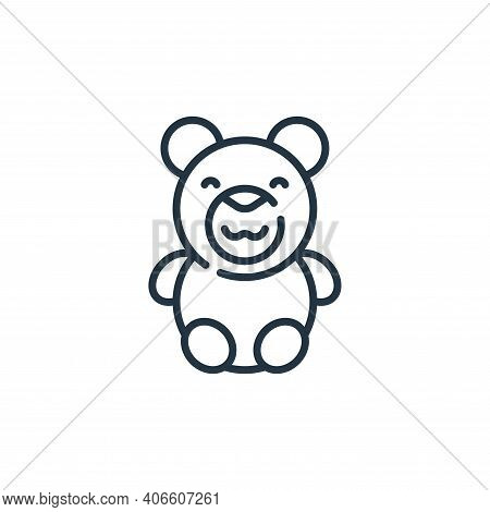 teddy bear icon isolated on white background from mall collection. teddy bear icon thin line outline
