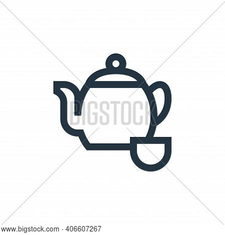teapot icon isolated on white background from alternative medicine collection. teapot icon thin line