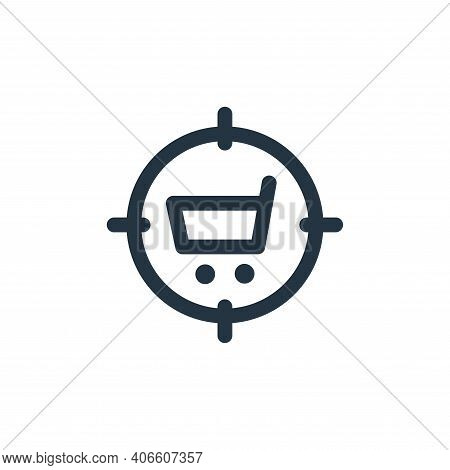 target icon isolated on white background from web apps seo collection. target icon thin line outline