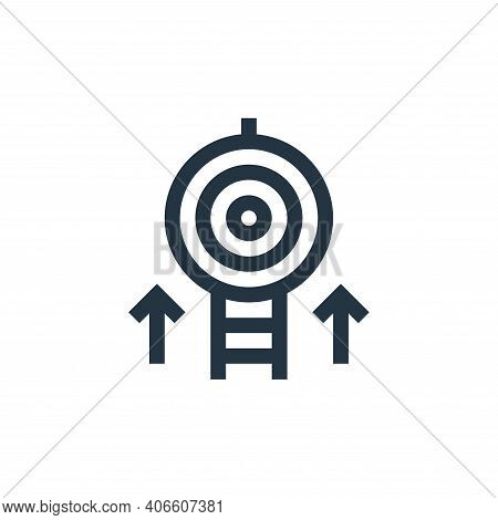 target icon isolated on white background from management collection. target icon thin line outline l