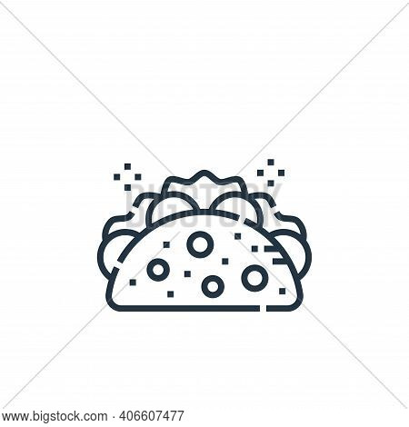taco icon isolated on white background from cinco de mayo collection. taco icon thin line outline li