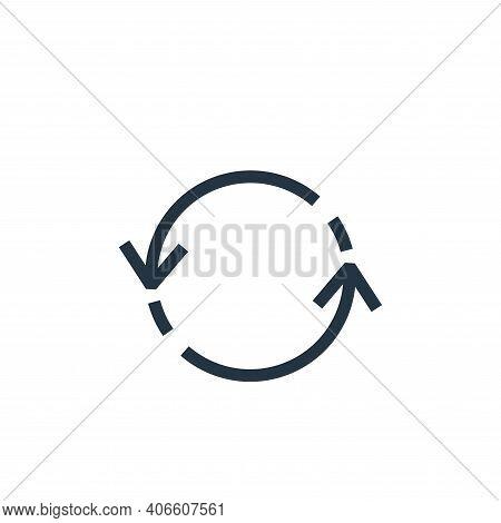 synchronization icon isolated on white background from arrows collection. synchronization icon thin