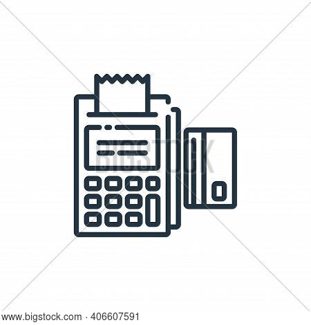 swiping icon isolated on white background from banking and money collection. swiping icon thin line