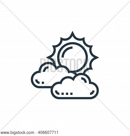 sun icon isolated on white background from climate change collection. sun icon thin line outline lin
