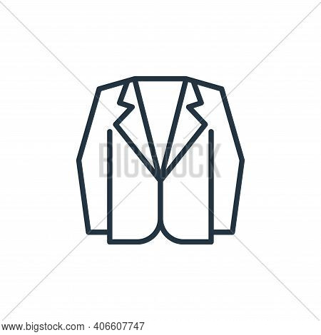 suit icon isolated on white background from wardrobe collection. suit icon thin line outline linear