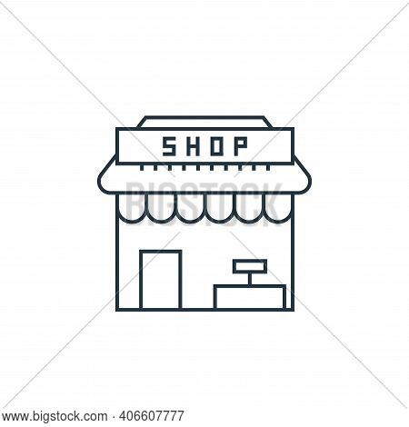 store icon isolated on white background from online shopping collection. store icon thin line outlin