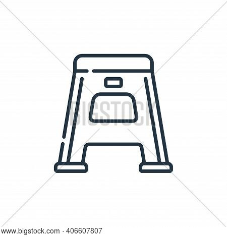 stool icon isolated on white background from plastic products collection. stool icon thin line outli