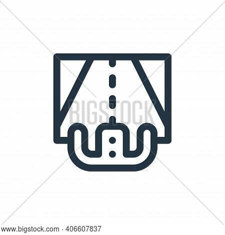 steering wheel icon isolated on white background from virtual reality collection. steering wheel ico
