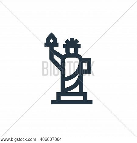 statue of liberty icon isolated on white background from united states of america collection. statue