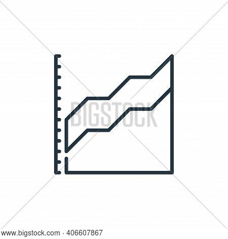 statistics icon isolated on white background from management collection. statistics icon thin line o