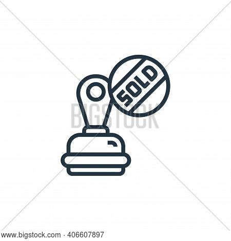 stamp icon isolated on white background from stationery collection. stamp icon thin line outline lin
