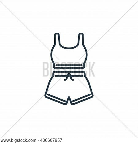 sport wear icon isolated on white background from clothes and outfit collection. sport wear icon thi