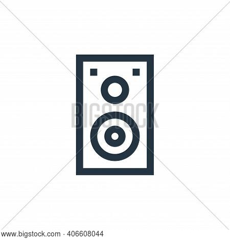 speaker icon isolated on white background from web essentials collection. speaker icon thin line out