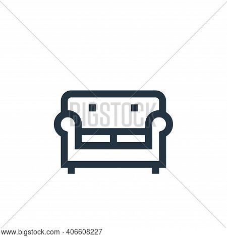 sofa icon isolated on white background from mental health collection. sofa icon thin line outline li