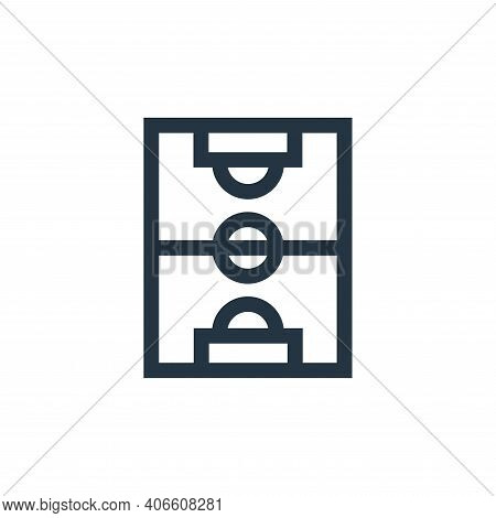 soccer field icon isolated on white background from soccer collection. soccer field icon thin line o