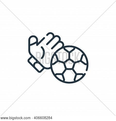 soccer icon isolated on white background from italy collection. soccer icon thin line outline linear