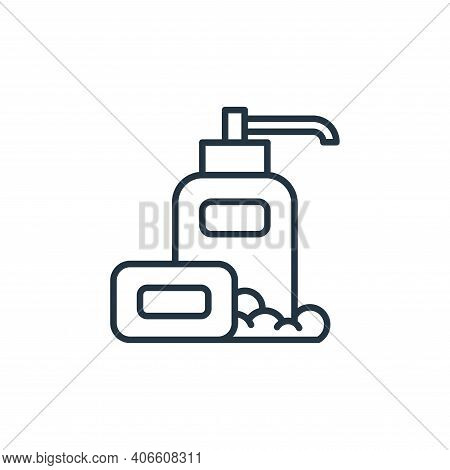 soap icon isolated on white background from coronavirus disease collection. soap icon thin line outl
