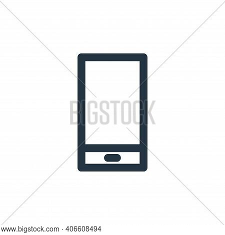 smartphone icon isolated on white background from computer hardware collection. smartphone icon thin