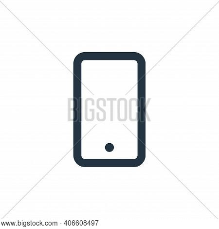 smartphone icon isolated on white background from electronic and device collection. smartphone icon