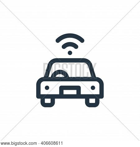smart car icon isolated on white background from internet of things collection. smart car icon thin