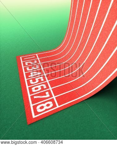 Racetrack With Unusual Slope. 3d Illustration Concept Image.