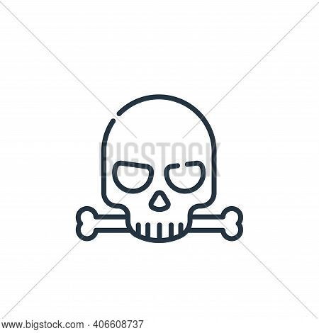 skull icon isolated on white background from hacker collection. skull icon thin line outline linear