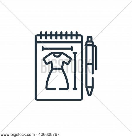 sketch icon isolated on white background from sewing collection. sketch icon thin line outline linea
