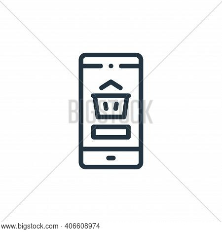 shopping basket icon isolated on white background from online shopping collection. shopping basket i