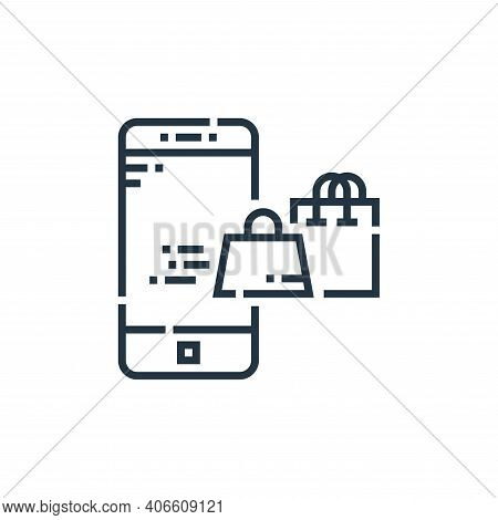 shopping bag icon isolated on white background from delivery collection. shopping bag icon thin line