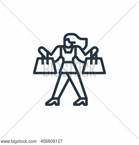 shopping icon isolated on white background from travel collection. shopping icon thin line outline l
