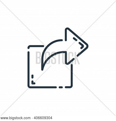 share icon isolated on white background from user interface collection. share icon thin line outline