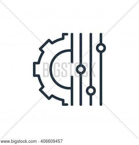 setting icon isolated on white background from engineering collection. setting icon thin line outlin