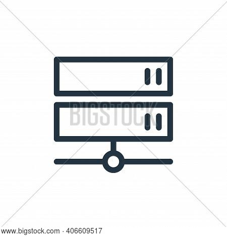 server icon isolated on white background from technology collection. server icon thin line outline l